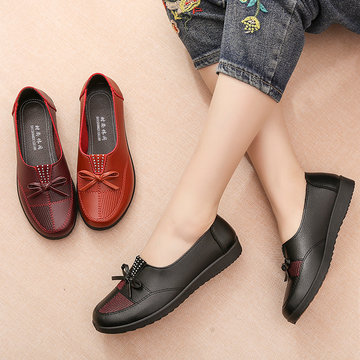 Splicing Butterfly Knot Flat Loafers