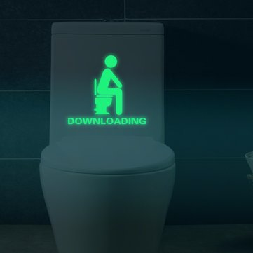 Fluorescent Glow Toilet Luminous Sticker