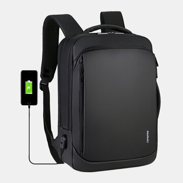 Men USB Charging Waterproof Backpack
