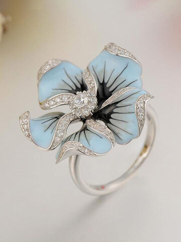 Copper Flower-shape Ring