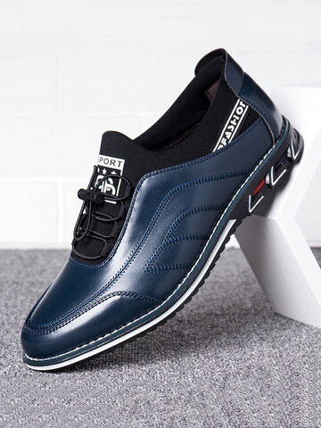 Men Business Casual Driving Leather Shoes