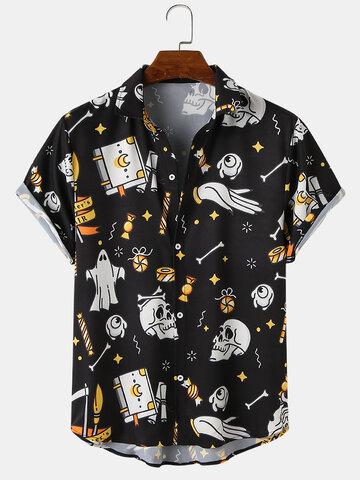 Halloween Funny Skull Printing Shirts