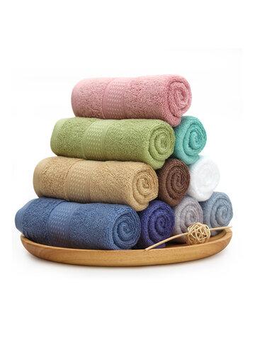 KCASA Toallas de baño de color puro Algodón con grapas largas Playa Juegos de toallas súper absorbentes Spa Thicken