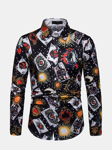 Men's Fitness long sleeve printing Shirt, Single color