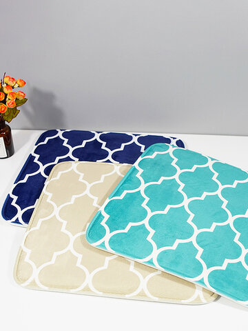 Flannel Memory Foam Rugs Soft Pad Non-slip Seat Pad Water Absorption Kitchen Pad Chair Cushion
