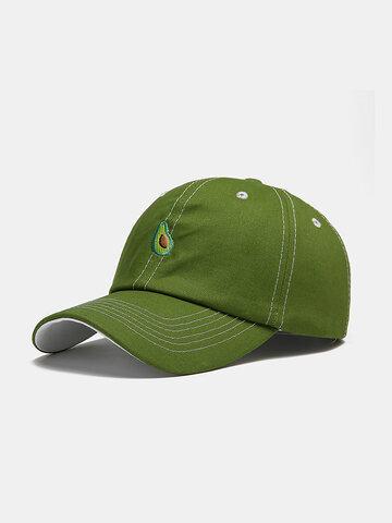 Fruit Avocado Green Pattern Baseball Cap Fashion Hats