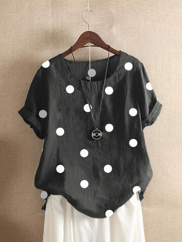 Polka Dot Short Sleeve T-shirt