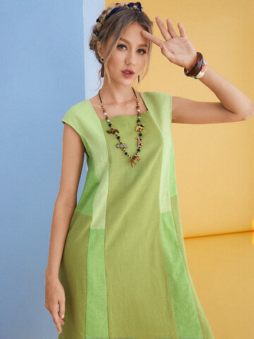 Colorblocks Patchwork Vestidos casuales