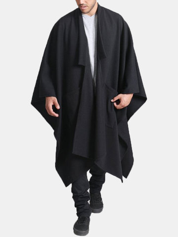 Mid Long Style Irregular Hem Cloak