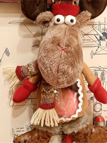 43cm Christmas Elk Doll Gift Bag Home Decor