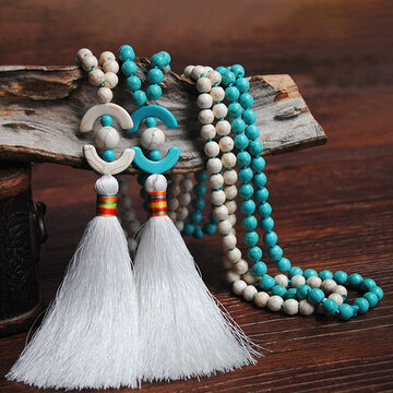 8mm Wooden Beads Long Necklace