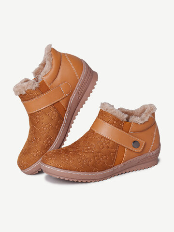 Comfortable Warm Lined Winter Ankle Boots