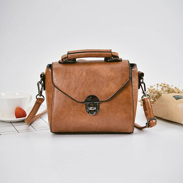 Retro PU Crossbody Bag