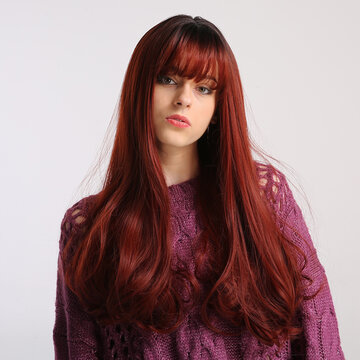 Gradient Long Curly Wig