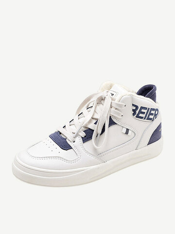 Letter Warm Lining High Top Sneakers