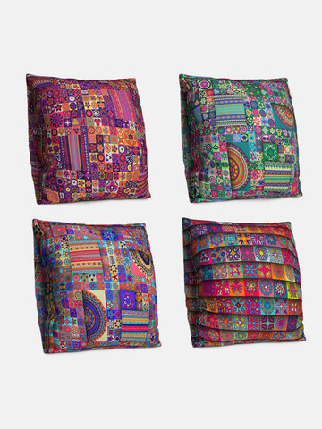 4 PCS A Set  Double-sided Bohemian Style Cushion Cover Home Sofa Office Soft Throw Pillow Cover Pillowcases  Art Decor