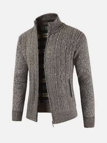 Winter Casual Knit Breathable Warm Cardigan фото