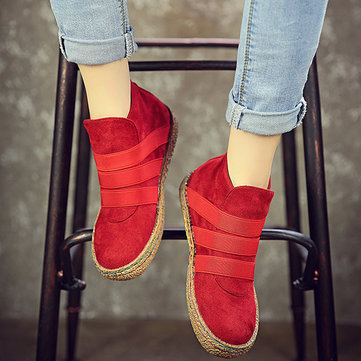 Suede Pure Color Ankle Boots