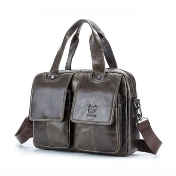 Men Genuine Leather Bag Business Crossbody Bag