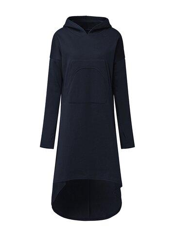 Casual Irregular Women Hoodie Dresses