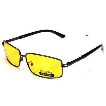 Yellow Lens Polarized UV 400 Sunglasses Night Vision Sport Shade Glasses Goggles