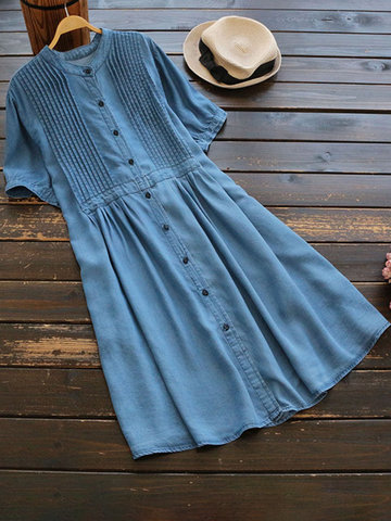 Casual Denim Shirt Dresses