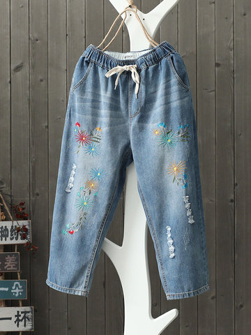 Fireworks Embroidery Pants