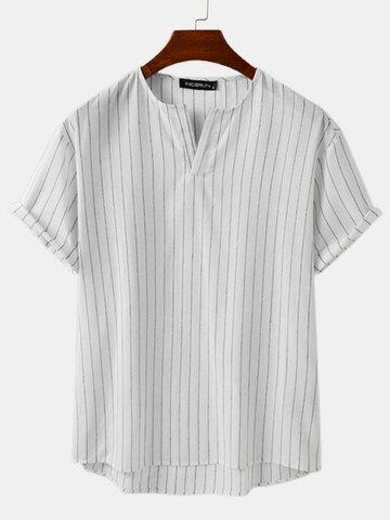 Plus Size Striped Fashion T-Shirt