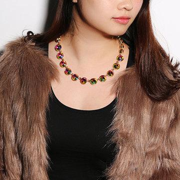 JASSY Statement Crystal Diamond Necklaces