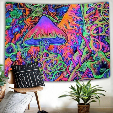 Abstract Mushroom Psychedelic Background Cloth Background Wall Decoration Cloth Tapestry Home Decoration Mural Tapestry