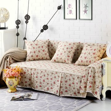 American Floral Thicken Cotton Blend 1-4 Seater Sofa Covers