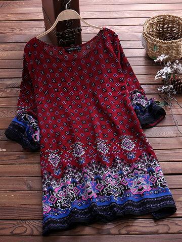 Mini-robes imprimées bohémiennes
