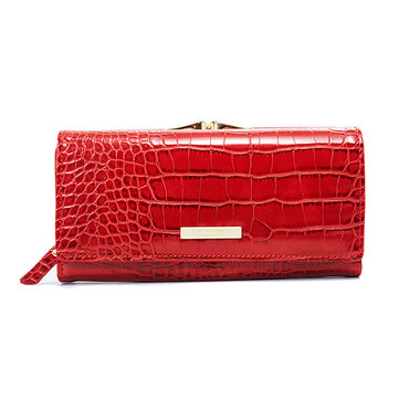 Damen Crocodile Pattern Wallet Long Geldbeutel - Clutch mit Telefon