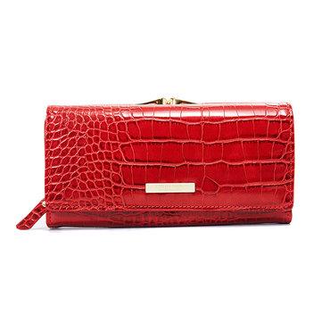 Women Crocodile Pattern Wallet Long Purse Phone Clutch Bag
