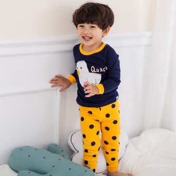 Duck Print Boys Girls Pajama Set фото