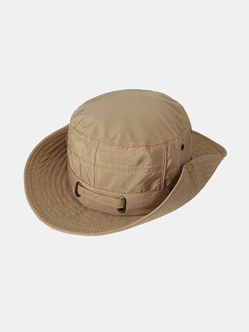 Bucket Hat Outdoor Fishing Mesh Breathable Sun With String