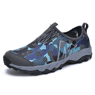 Men Mesh Outdoor Wearable Slip On Casual Sneakers