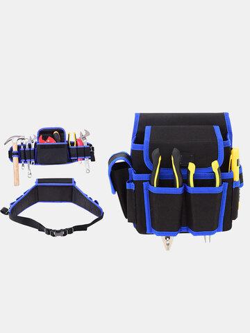 1 Pc multi-fonctionnel électricien outils sac Oxford tissu outil taille poche ceinture support de rangement organisateur jardin outils kits taille paquets