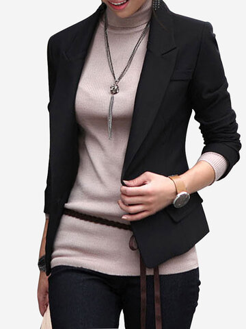 Long Sleeved Slim Female Jacket Small Suit