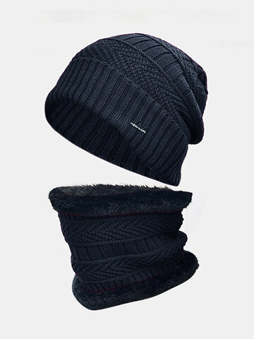 Men Wool Thick Neck Protection Windproof Knitted Hat