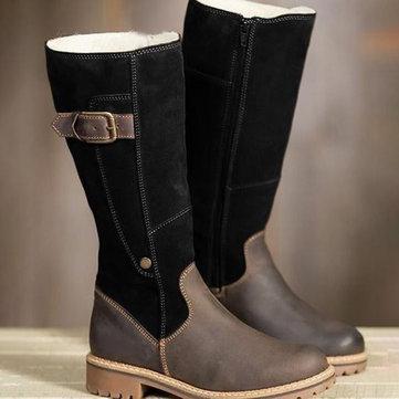 الدافئة بطانة زيبر أحذية الشتاء الثلوج