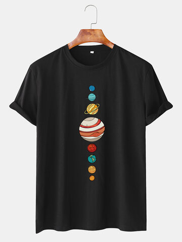 Colorful Planet Printed T-shirts