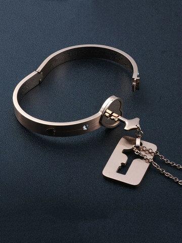 2 Pcs Concentric Lock Couple Jewelry