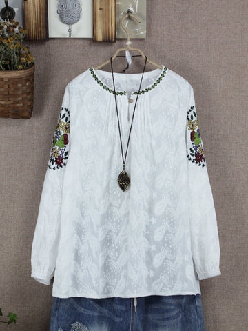 Floral Embroidery Women Blouse