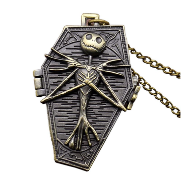 Vintage Skull Box Pocket Watch