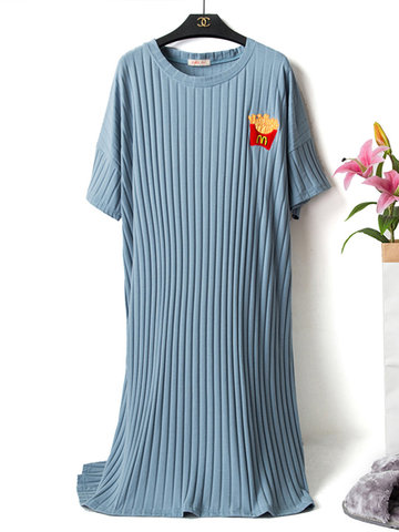 Striped Breathable Loose Home Pajamas