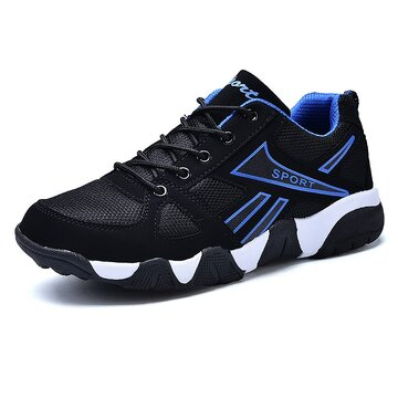 Men Mesh Splicing Sport Running Shoes
