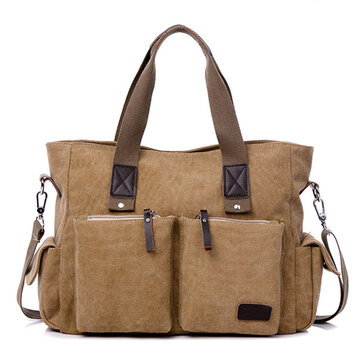 Men Canvas Traveling Large Capacity Crossbody Bag