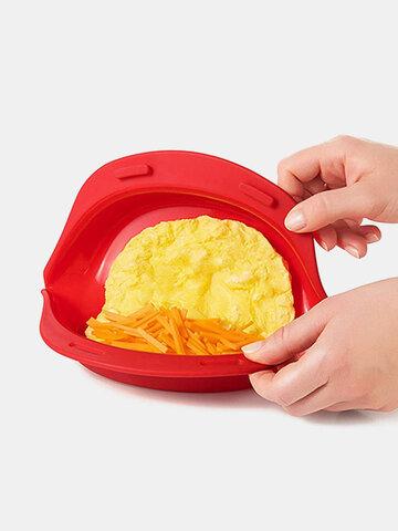 Molde para criador de omelete 1 PC Forno de micro-ondas Silicone Assadeira antiaderente utensílios de cozinha