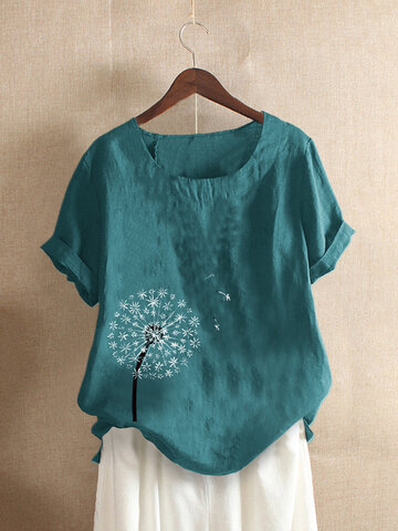 Flower Print Casual T-shirt